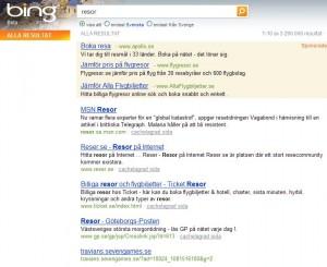 Resor - sökresultat Bing